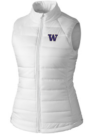 Washington Huskies Womens Cutter and Buck Post Alley Vest - White