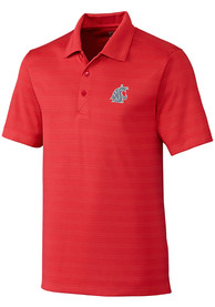 Washington State Cougars Cutter and Buck Interbay Melange Polo Shirt - Red