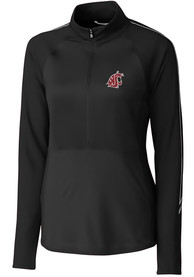 Washington State Cougars Womens Cutter and Buck Pennant Sport Full Zip Jacket - Black