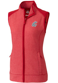 Washington State Cougars Womens Cutter and Buck Cedar Park Vest - Red