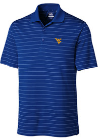 West Virginia Mountaineers Cutter and Buck Franklin Stripe Polo Shirt - Blue