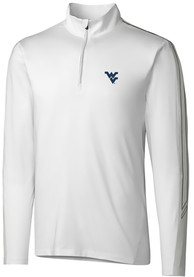 West Virginia Mountaineers Cutter and Buck Pennant Sport 1/4 Zip Pullover - White