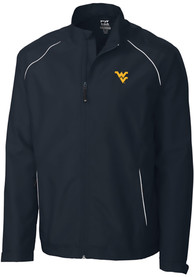 West Virginia Mountaineers Cutter and Buck Beacon 1/4 Zip Pullover - Navy Blue