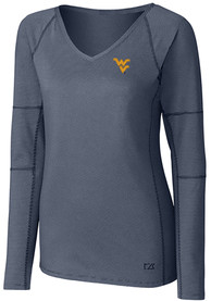 West Virginia Mountaineers Womens Cutter and Buck Victory T-Shirt - Navy Blue