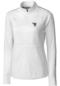 West Virginia Mountaineers Womens Cutter and Buck Pennant Sport Full Zip Jacket - White