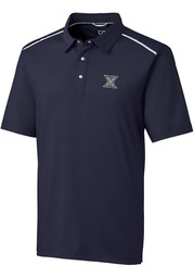 Cutter and Buck Xavier Musketeers Mens Navy Blue Fusion Short Sleeve Polo