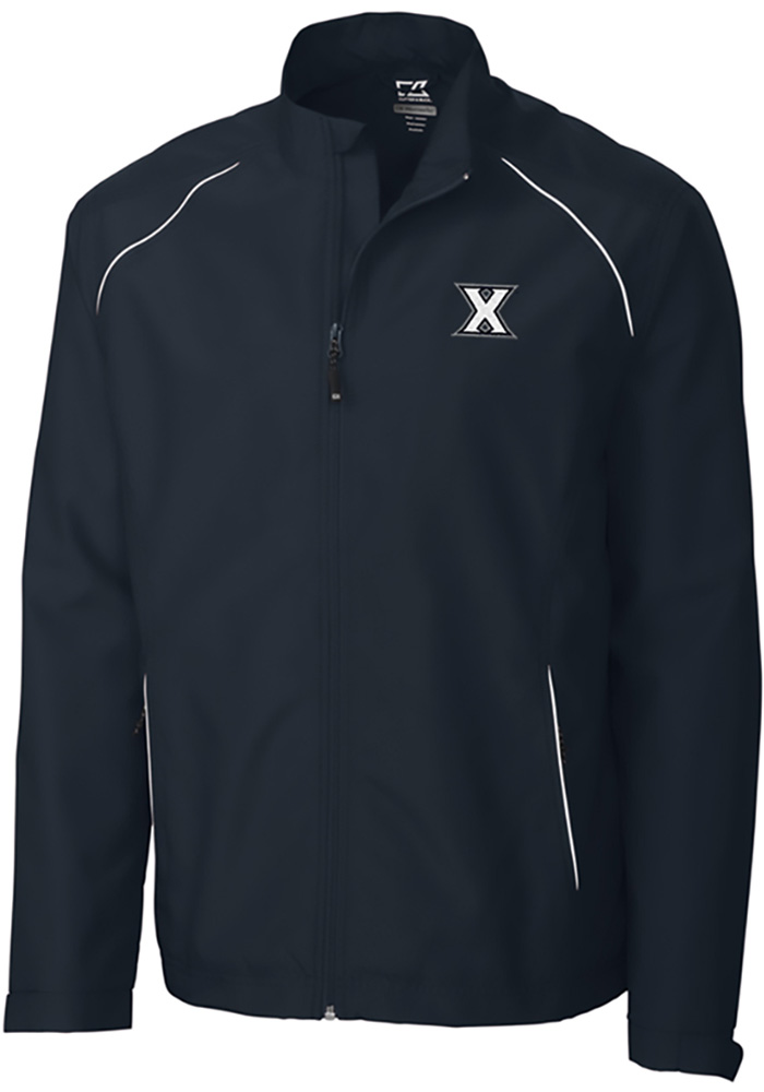 Cutter and Buck Xavier Musketeers Mens Navy Blue Beacon Long Sleeve 1/4 Zip Pullover - Image 1