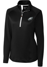 Philadelphia Eagles Womens Cutter and Buck Jackson 1/4 Zip - Black