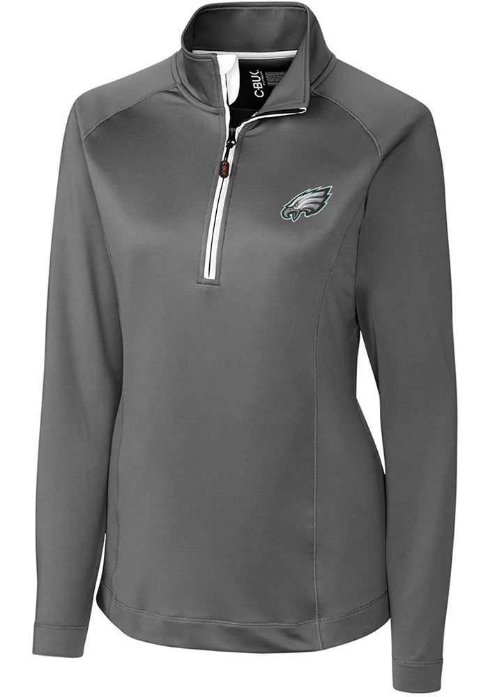 Cutter and Buck Philadelphia Womens Grey Jackson 1/4 Zip Pullover - Image 1