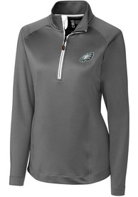 Philadelphia Eagles Womens Cutter and Buck Jackson 1/4 Zip - Grey