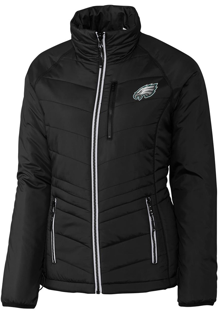 Cutter and Buck Philadelphia Eagles Womens Black Barlow Pass Heavy Weight Jacket - Image 1