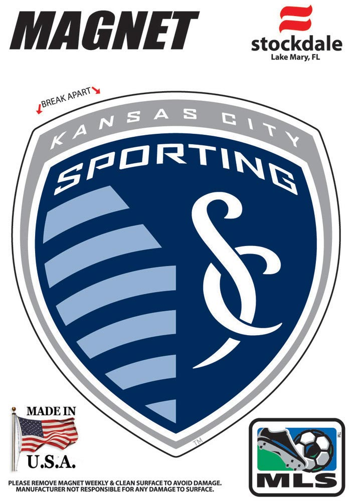 Sporting Kansas City 3x5 Primary Logo Car Magnet - Blue - Image 1