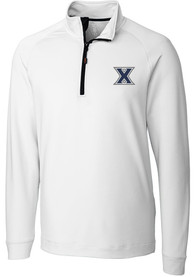 Xavier Musketeers Cutter and Buck Jackson 1/4 Zip Pullover - White