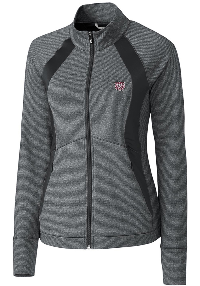 Cutter and Buck Missouri State Bears Womens Grey Shoreline Colorblock Medium Weight Jacket - Image 1