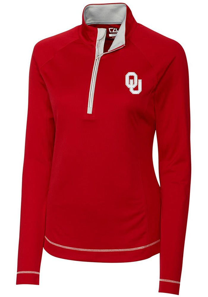 Cutter and Buck Oklahoma Womens Crimson Evolve 1/4 Zip Pullover - Image 1
