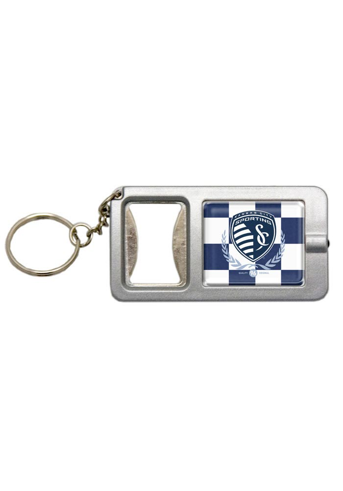Sporting Kansas City Bottle Opener/Flash Light Keychain