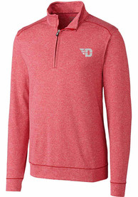 Dayton Flyers Cutter and Buck Shoreline 1/4 Zip Pullover - Red