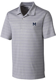 Michigan Wolverines Cutter and Buck Interbay Polo Shirt - Grey