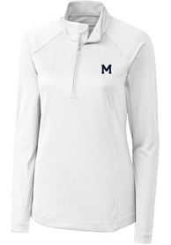 Michigan Wolverines Womens Cutter and Buck Evolve 1/4 Zip - White
