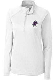 TCU Horned Frogs Womens Cutter and Buck Evolve 1/4 Zip - White