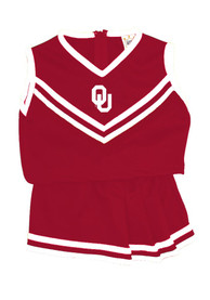 Oklahoma Sooners Girls Crimson Youth 6-10 Logo Cheer Set