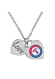 Texas Rangers Womens Field of Dreams Necklace - Silver