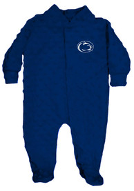Penn State Nittany Lions Baby Cuddle Bubble Navy Blue Cuddle Bubble One Piece Pajamas