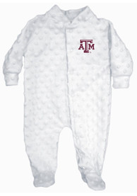Texas A&M Aggies Baby Cuddle Bubble White Cuddle Bubble One Piece Pajamas