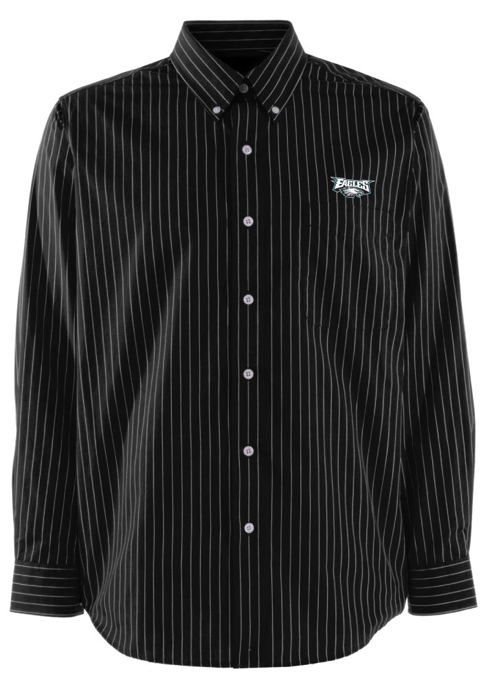 Antigua Philadelphia Eagles Mens Black Achieve Long Sleeve Dress Shirt - Image 1