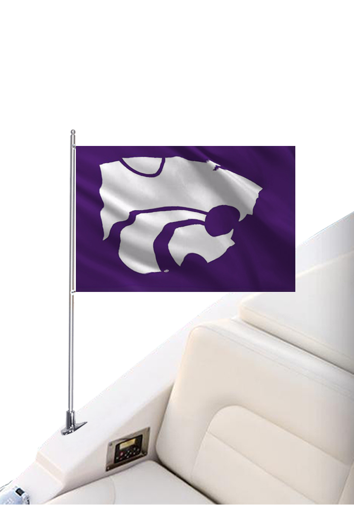 K-State Wildcats 12x18 Silk Screen Boat Flag - Image 1