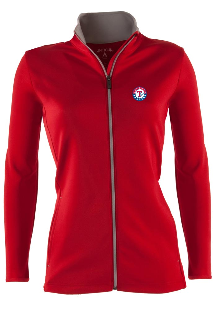 Antigua Texas Rangers Womens Red Leader Light Weight Jacket - Image 1
