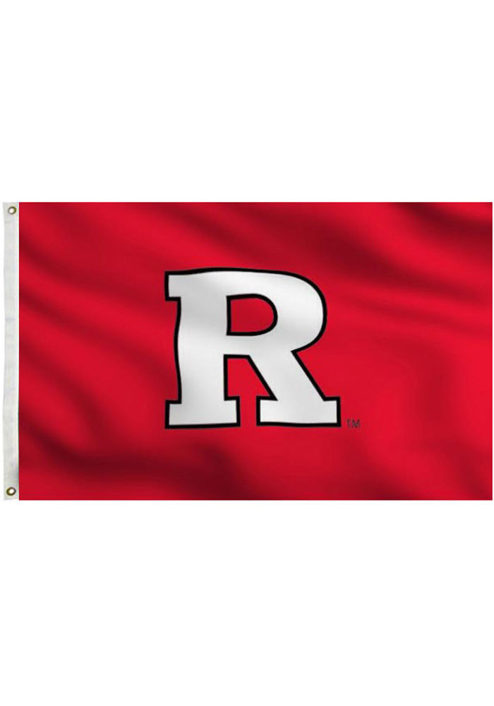 Rutgers Scarlet Knights 3x5 Red Grommet Applique Flag - Image 1