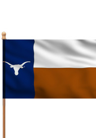 Texas Longhorns 3x5 State Style Sleeve Applique Flag