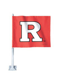 Rutgers Scarlet Knights 11x14 Red Polyester Car Flag - Red