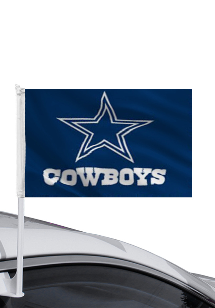 Dallas Cowboys 11x14 Double Sided Blue Polyester Car Flag - Navy Blue - Image 1