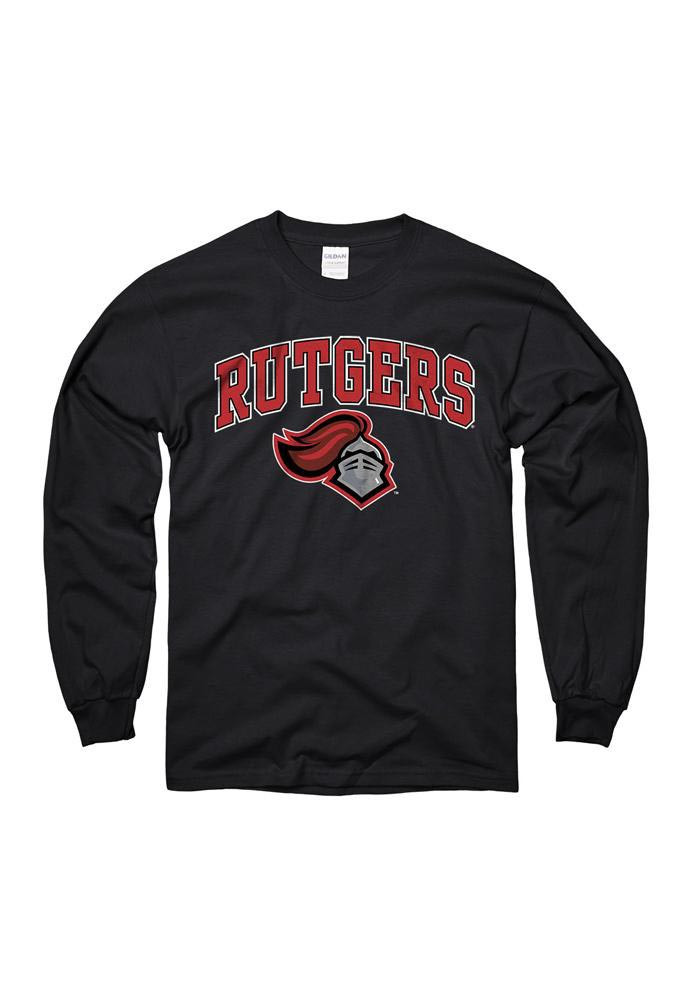 Rutgers Scarlet Knights Mens Black Arch Long Sleeve T Shirt - Image 1