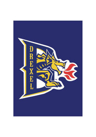 Drexel Dragons 30x40 Blue Silk Screen Sleeve Banner
