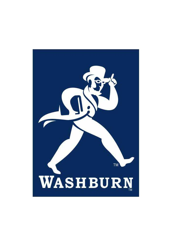 Washburn Ichabods 30x40 Blue Silk Screen Banner - Image 1