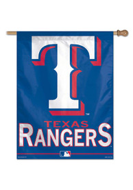 Texas Rangers 27x37 Blue Silk Screen Sleeve Banner