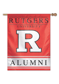 Rutgers Scarlet Knights 27x37 Red Silk Screen Sleeve Banner