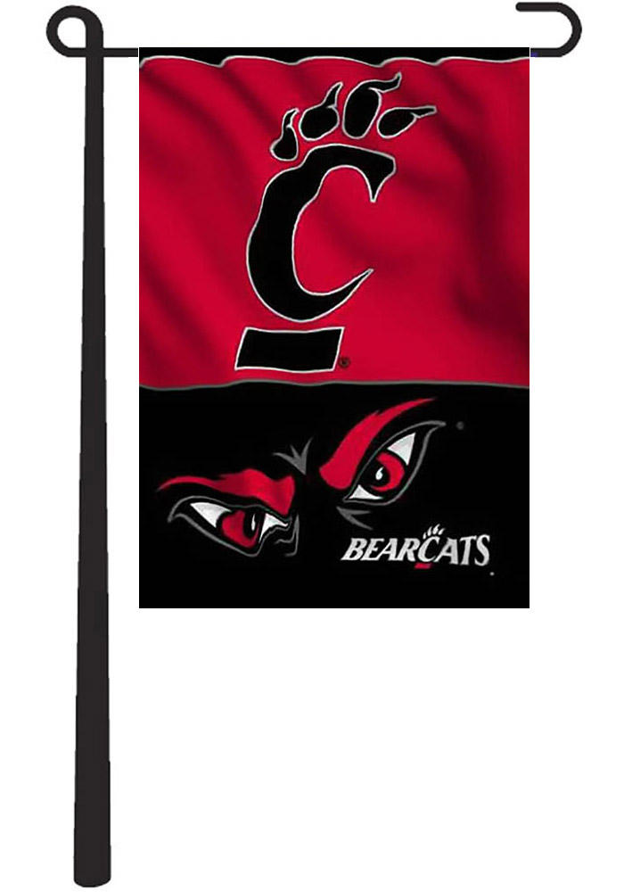 Cincinnati Bearcats 13x18 Red, Black Garden Flag - Image 1