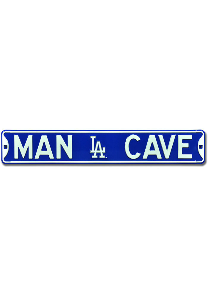 Los Angeles Dodgers 6x36 Man Cave Street Sign - Image 1