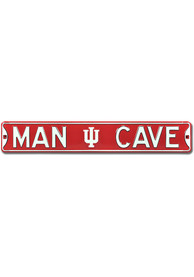 Indiana Hoosiers 6x36 Man Cave Street Sign