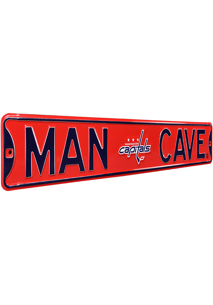 Washington Capitals 6x36 Man Cave Street Sign - Image 2