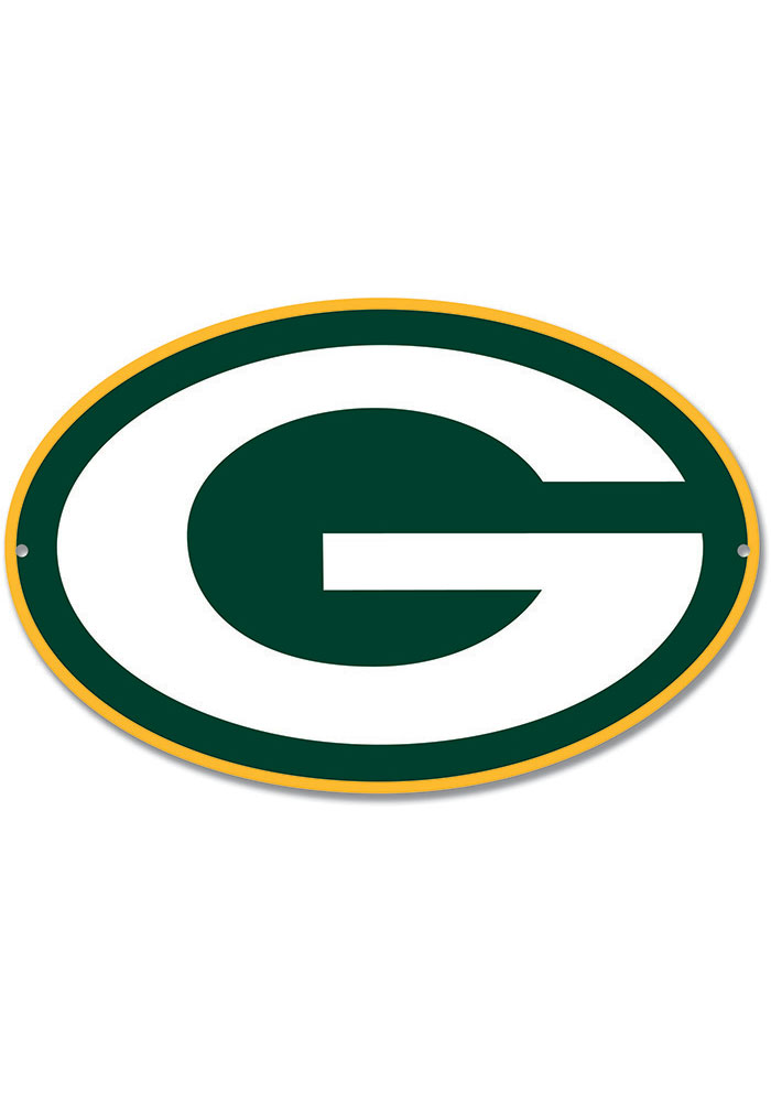 Green Bay Packers 12 Steel Logo Sign 1360155