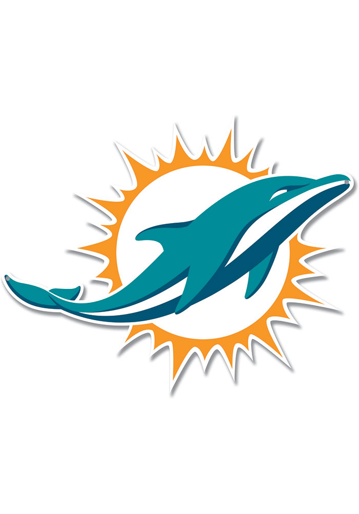 Miami Dolphins 12 Steel Logo Sign - Image 1
