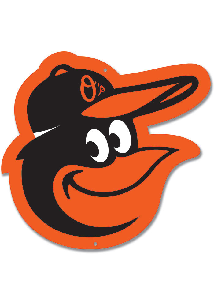 Baltimore Orioles 12 Steel Logo Sign - Image 1