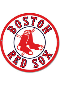 Boston Red Sox 12 Steel Logo Sign