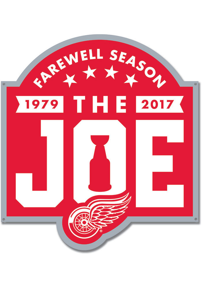Detroit Red Wings 12 Steel Logo Sign - Image 1