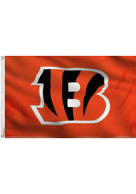 Cincinnati Bengals 3x5 Orange Orange Silk Screen Grommet Flag
